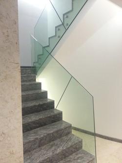 Balustrada sticla SwgEvolution point-fixing