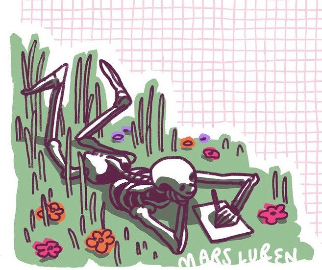 Skeleton Buddy Stationary (full color)