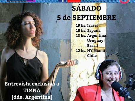 SABADO 5/9 CREMA LATINA 'Entrevista a TIMNA  y Liliana Smith y su espacio Claro de Luna'