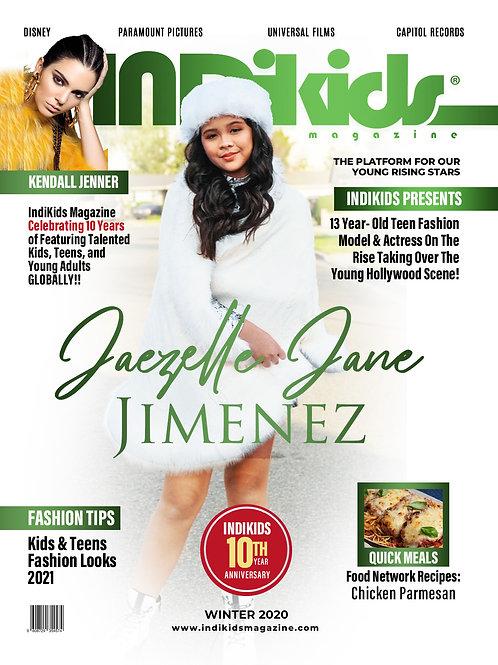IDK Winter 2020 Issue Jaezelle Jane Cover
