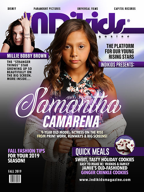 IDK Fall 2019 Issue Samantha Cover