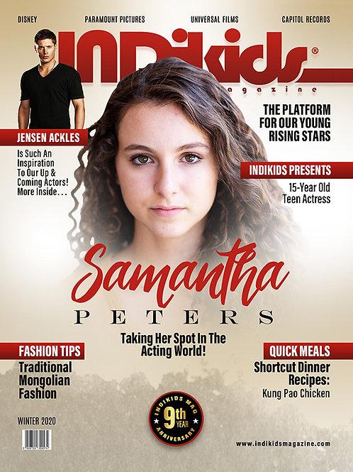 IDK Winter 2020 Issue Samantha Cover