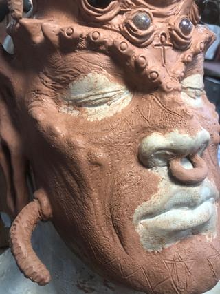 'Anansi' Sculpt on actor's Lifecast