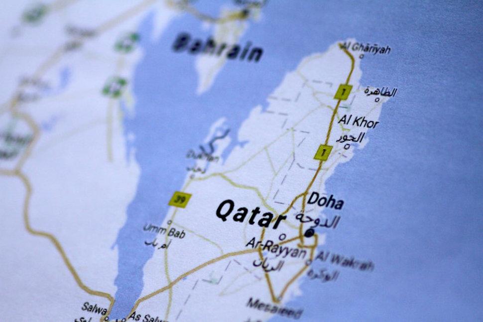 qatar map cool