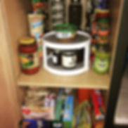 Before and After pantry organization