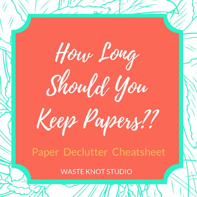 Paper Declutter Cheatsheet