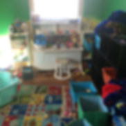 Before and After Child playroom organization