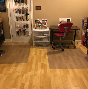 Before and After Craft room organization