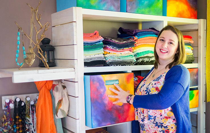 Proud display of colorful clothing in bedroom