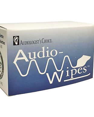 Hearing aid wipes designed to clean hearing aids, molds headphones and has no alchohol.