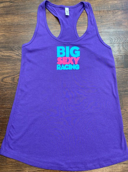 Purple Women's BIG SEXY RACING Tank