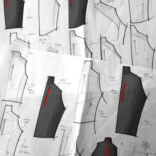 Rohan Troggings Vest Sketches