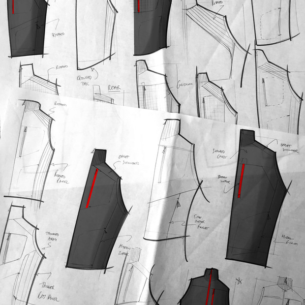 Rohan Troggings Vest Sketches