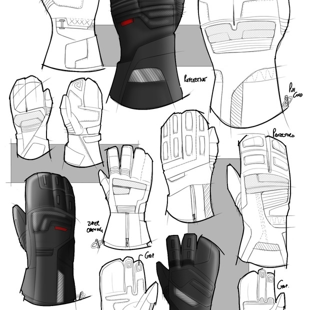 Glove Sketch Development