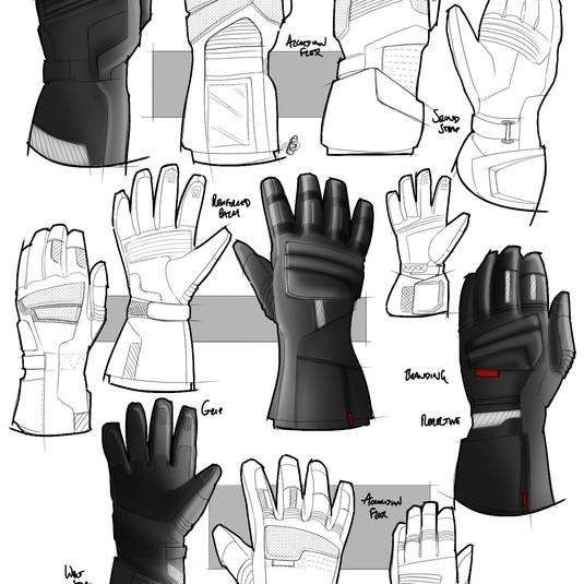 Glove Sketch Development