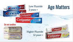 Fluoride toothpaste - Don't Swallow!