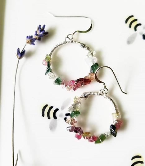 🍉Watermelon Tourmaline earrings inspire