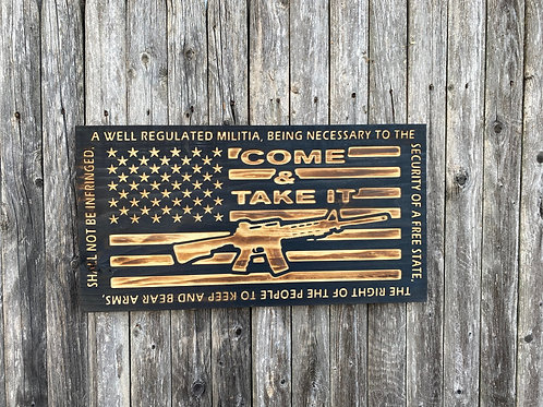 Come & Take It 2nd Amendment Flag