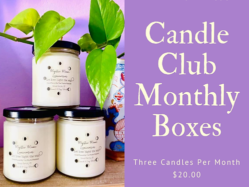 Candle Club Monthly Subscription boxes