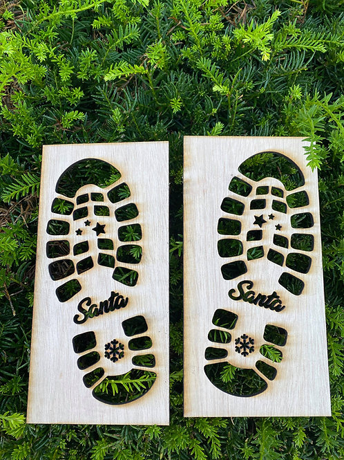 Santa Shoe Stencil