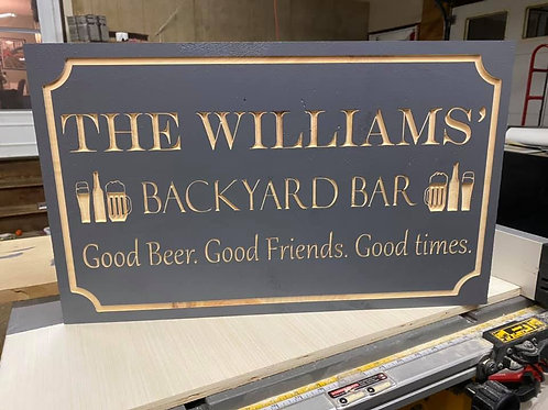 Backyard Bar Sign