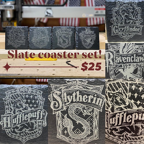 Harry Potter Slate Coaster 4 Pack