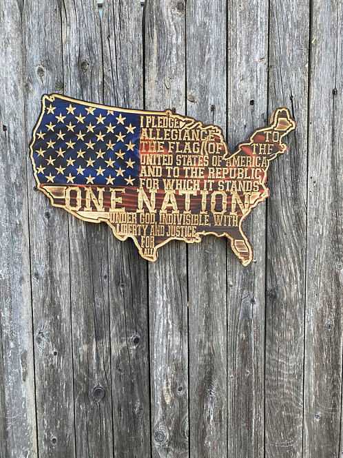 One Nation United States Wall Hanging