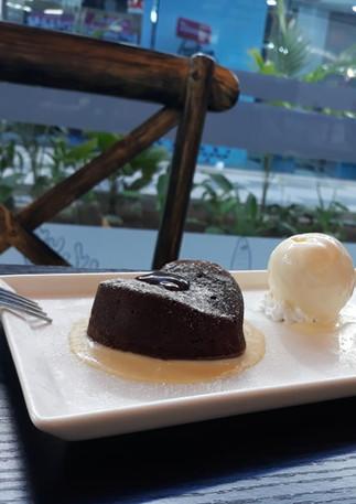 Yummy chocolat fondant in Mauritius