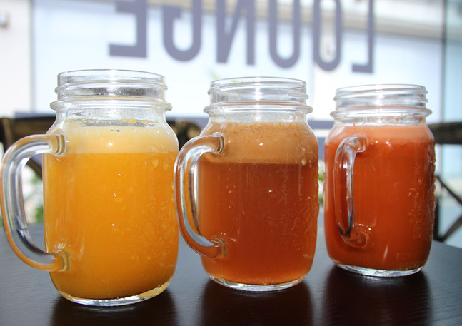 Freshly squeezed juices in Mauritius at The Fisherman Lounge