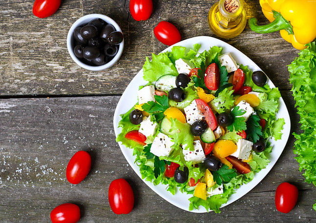 Best fresh Greek salad in Mauritius at The Fisherman Lounge