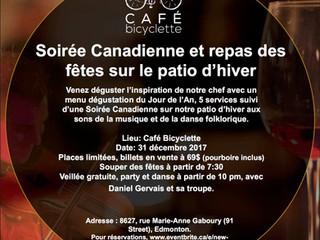 Repas des fêtes au Café Bicyclette- 31 décembre 2017