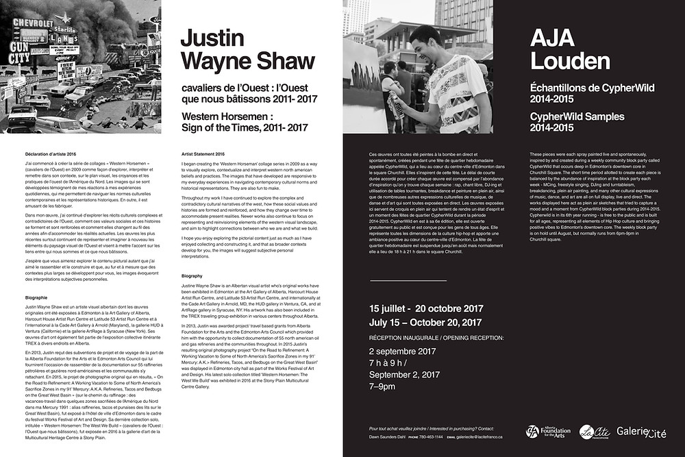 Justin Wayne Shaw + AJA Louden didactic galerie/cite 2017