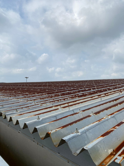 大泉町立東小学校体育館屋根塗装塗り替え塗装工事_201102_1.jpg