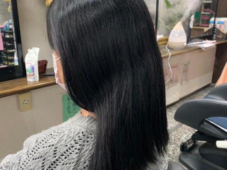 炭酸泉ヘッドスパ 縮毛矯正 持ち込みカラー