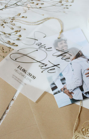 Save the Date Karte für eure Hochzeit im rustikalen Look