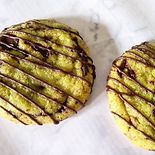 Chocolate chip pandan cookie
