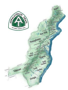 Appalachian Trail map