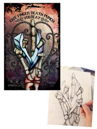 Five Finger Death Punch Concert Poster