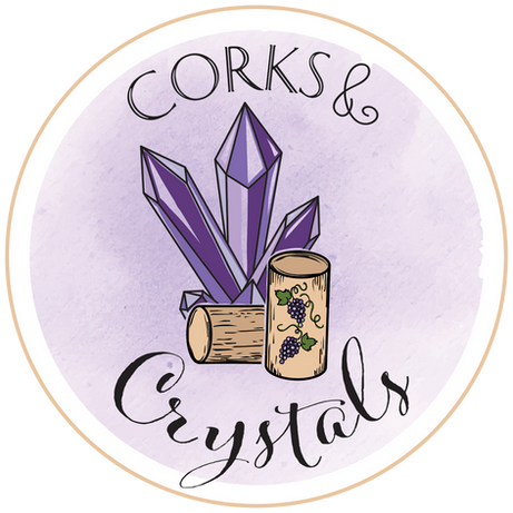 Corks & Crystals logo