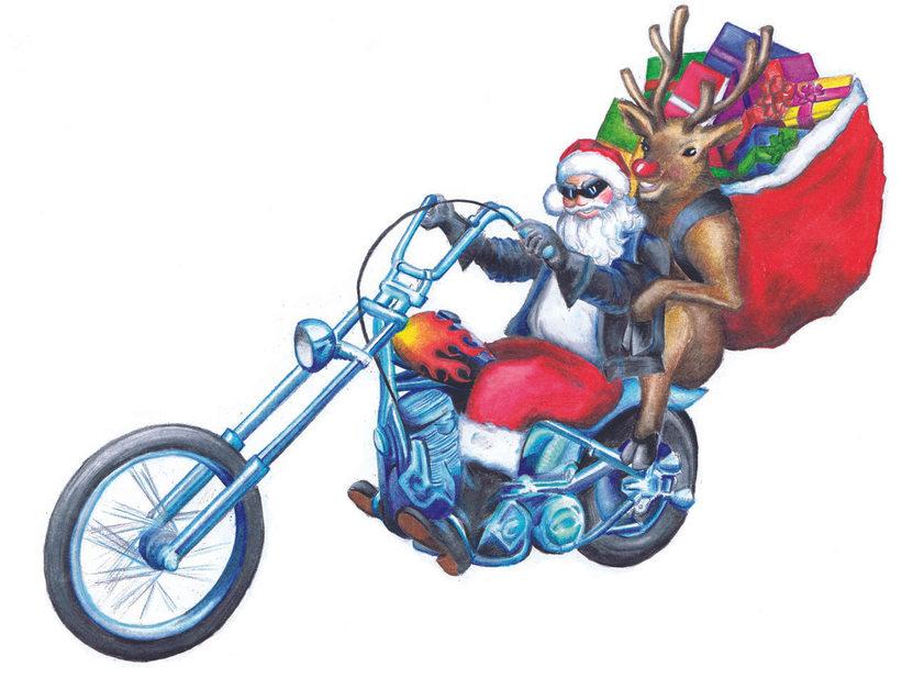 Easy Rider Santa and Rudolph