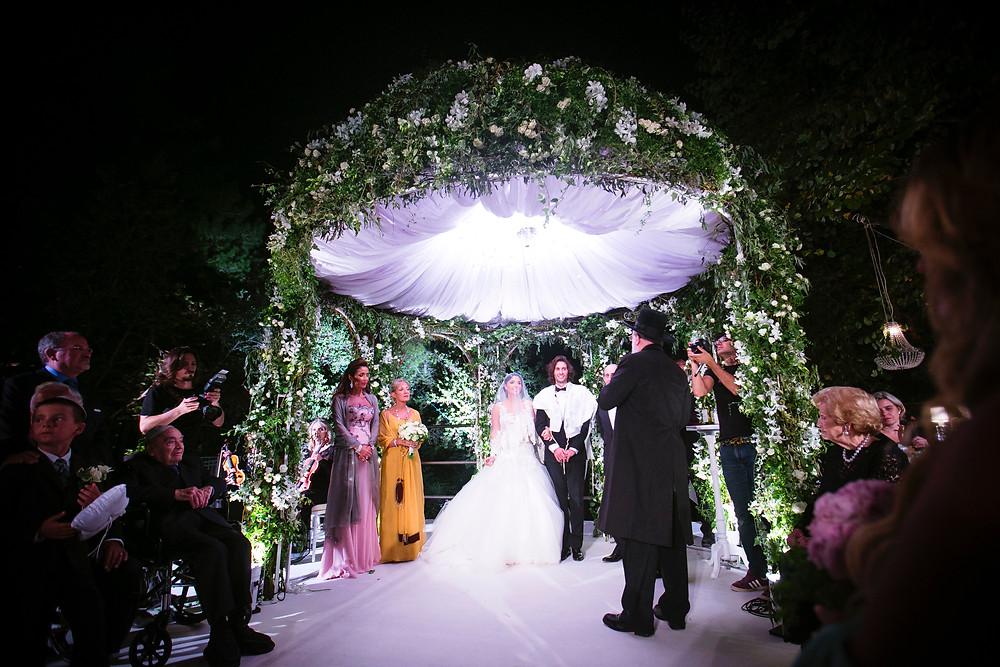 Stunning Chuppa in Israel Wedding by kbydesigns