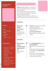 Elaboración y exposición de currículums