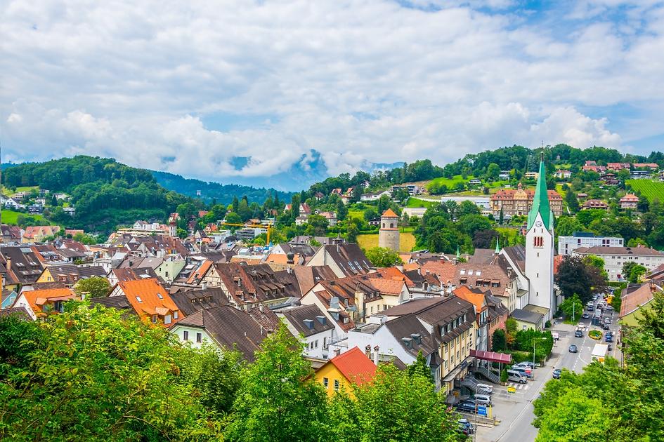 Feldkirch in der Vogelperspektive