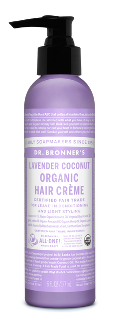 Organic Lavender Coconut Hair Crème (6 oz)