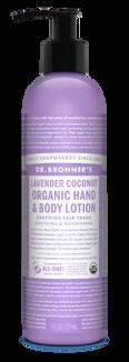 Organic Lavender Coconut Lotion (8 oz)