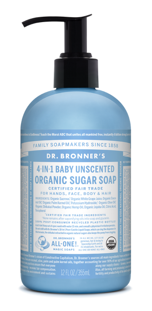 Organic Baby Unscented Sugar Soap