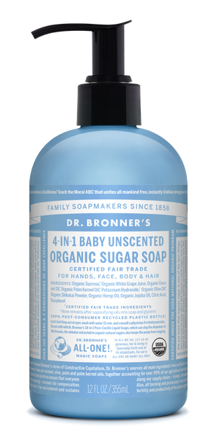 Organic Baby Unscented Sugar Soap