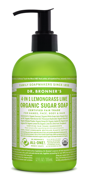 Organic  Lemongrass Lime Sugar Soap