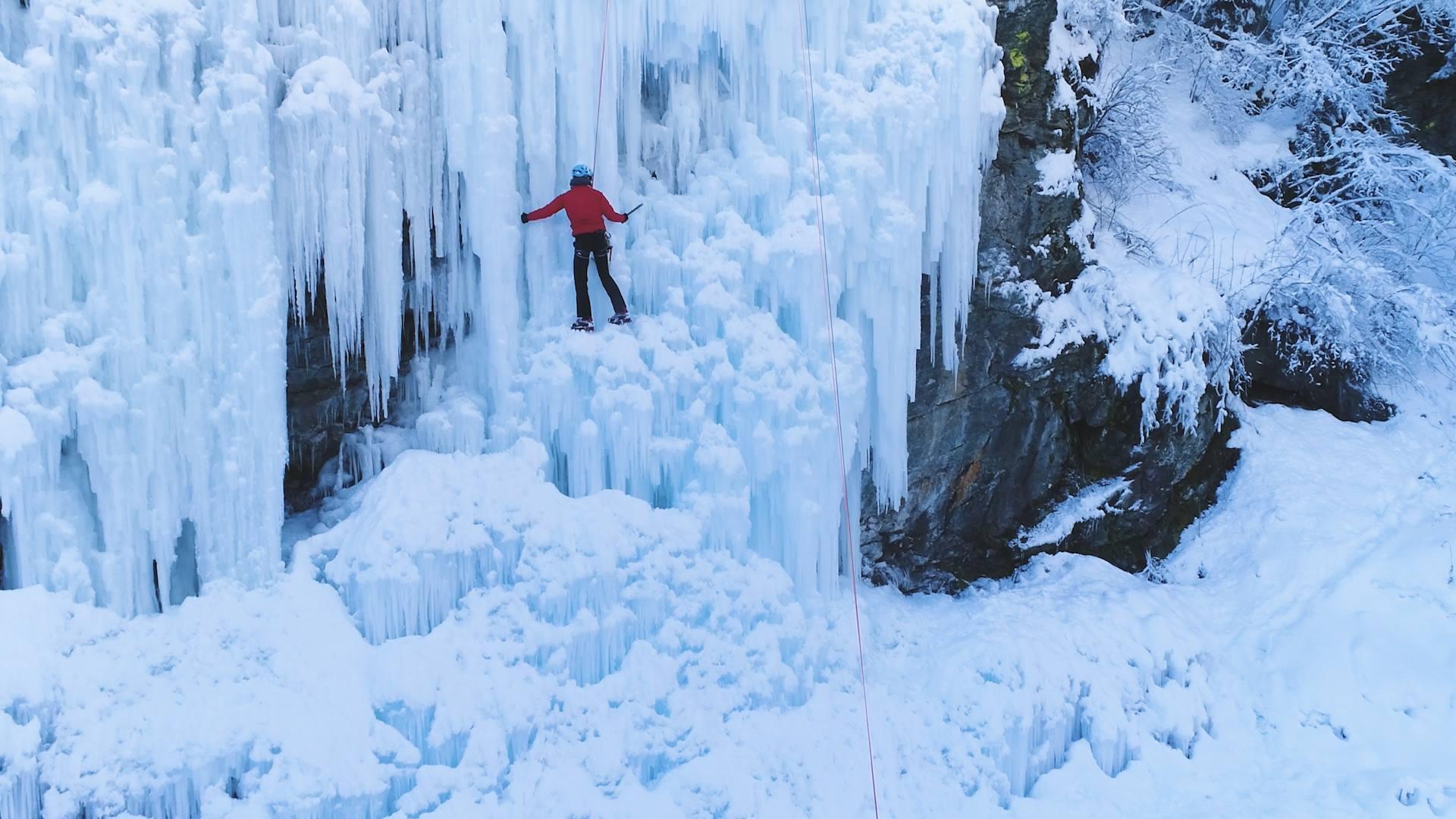 Drone | Cascade de glace