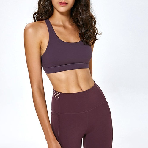 Rose X-Shaped Mesh Sports Bra